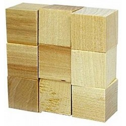 مكعبات خشب 2.5 سم بكيت 9 قطع