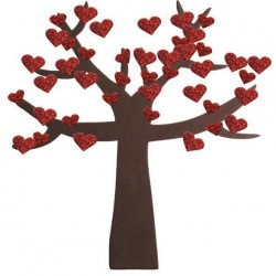 سول لاصق شكل شجرة مع قلوب بكيت 240 قطعة