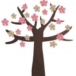 سول لاصق شكل شجرة مع ورد بكيت 240 قطعة