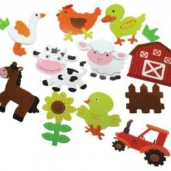 سول لاصق حيوانات المزرعة بكيت 40 قطعة