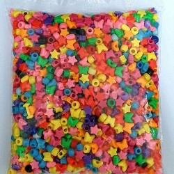 خرز بلاستيك ملون مشكل كيس 450 غم