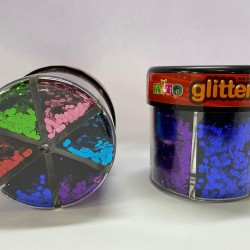 برق رش ملون علبة 60 غم 6 لون mito glitter