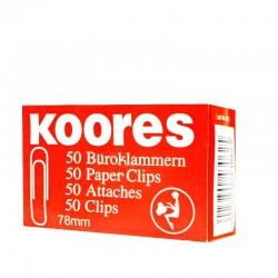 مشبك ورق علبة 78 ملم 50 قطعة kores