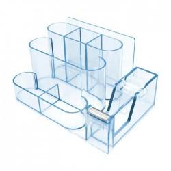 طقم مكتب بلاستيك شفاف مع قطاعة لاصق