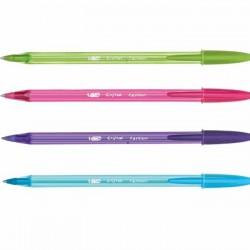 قلم حبر جاف cristal fashion bic