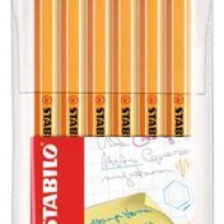 قلم حبر سائل 0.4 رفيع طقم 6 لون Stabilo 88/6