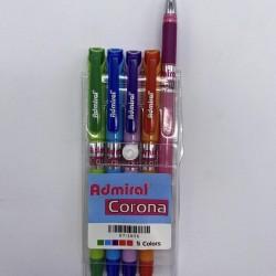 قلم حبر باستيل طقم 1/5 ADMIRAL CORONA