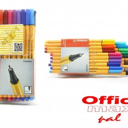 قلم حبر سائل 0.4 رفيع طقم 20 لون Stabilo point 88