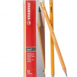 قلم رصاص اصفر مع محاية Stabilo HB-2
