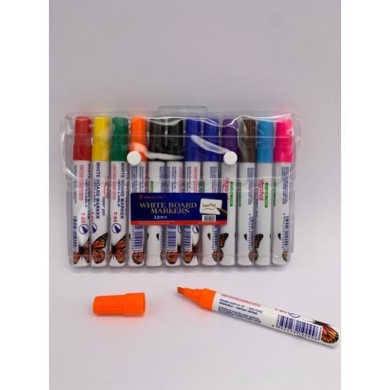 قلم فلوماستر للوح طقم 12 قلم MARSHAL