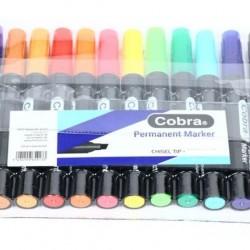 قلم فلوماستر ثابت طقم12 لون  COBRA