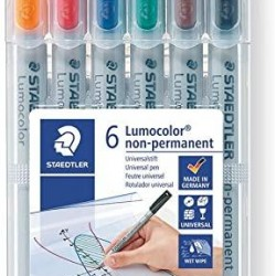 قلم فلوماستر ثابت وسط طقم 6 لون Staedtler M