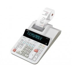 الة حاسبة مع رول Casio DR-120R-WE-E