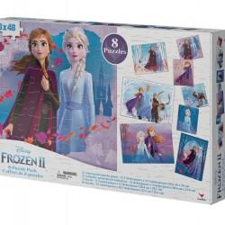 بازل 48 قطعة 8 رسمات Frozen