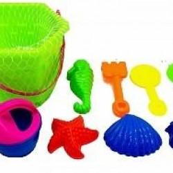 سطل ادوات بحر للعب بالرمل 9 قطع