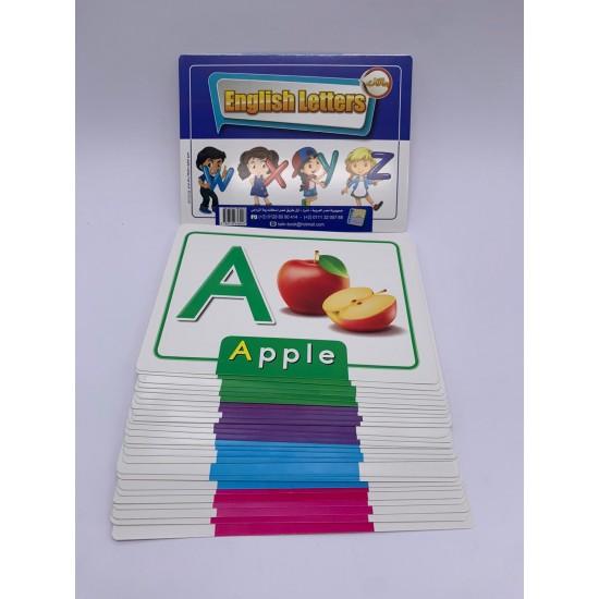 بطاقات نعليمية 21 كرت 15*20 عن الاحرف الانجليزية