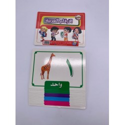 بطاقات نعليمية 21 كرت 15*20 الارقام العربية