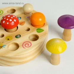 لعبة صندوق الفطر خشب مع مطرقة