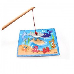 لعبة صياد السمك خشب مغناطيس 8 قطع