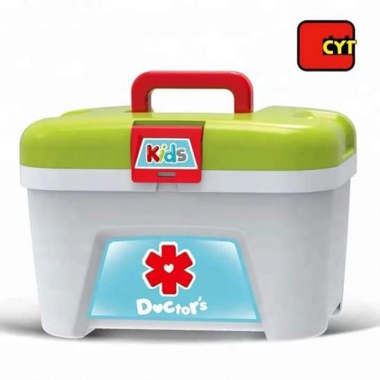 لعبة ادوات الطبيب مع حقيبة وقاعدة جر 3in1