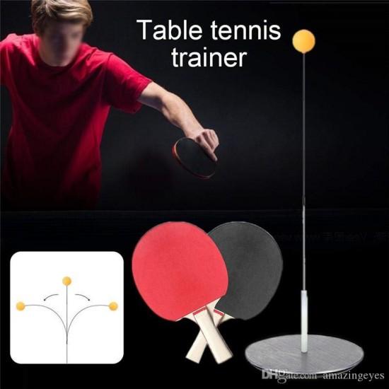 مضرب تنس طاولة عدد 2 مع قاعدة سلك