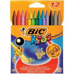 الوان شمع بلاستيك 12 لون Bic