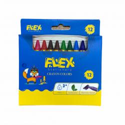 الوان شمع عريض 12 لون FLEX 3221