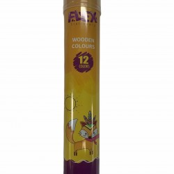 الوان خشب 12 لون اسطوانة حديد FLEX 92204