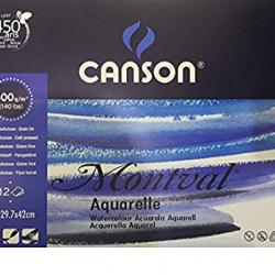 دفتر رسم سلك كانسون 29.7*42 سم 300 غم 12 ورقة MONTVAL CANSON A3