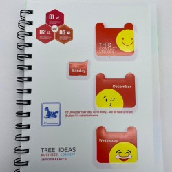 دفتر سلك 5 موضوع صغير مع فواصل بلاستيك