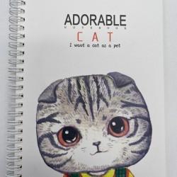 دفتر سلك 1 موضوع صغير بلاستيك مقوى CAT
