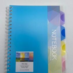 دفتر سلك بلاستيك 4 فواصل B4