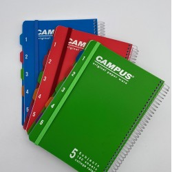 دفتر سلك 5 موضوع كبير مع فواصل campus