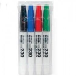 قلم لوح فلوماستر رفيع طقم 4 لون lineplus 230