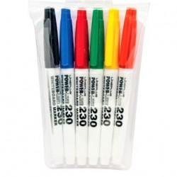 قلم فلوماستر لوح طقم 6 لون lineplus 230