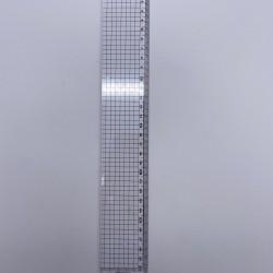مسطرة بلاستيك 30 سم عريضة شفافة