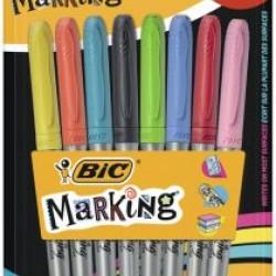 قلم فلوماستر ثابت طقم 6+2 marking big
